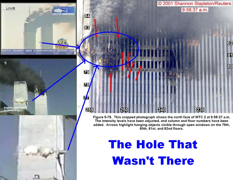 911 North Tower The Hole That Wasn T There