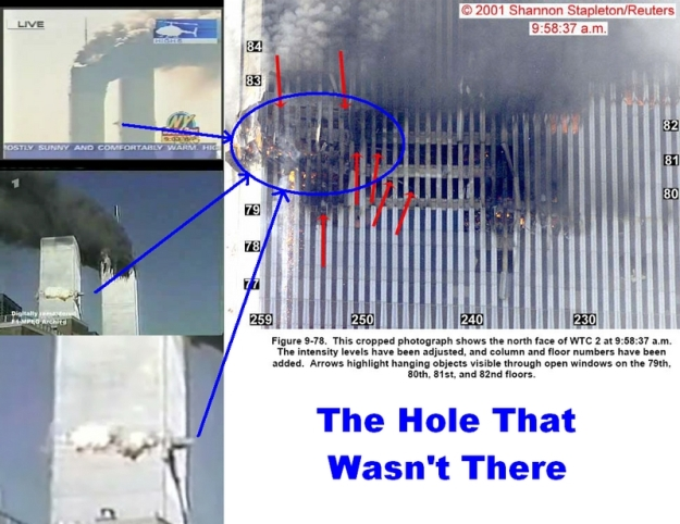 911 North Tower The Hole That Wasn't There
